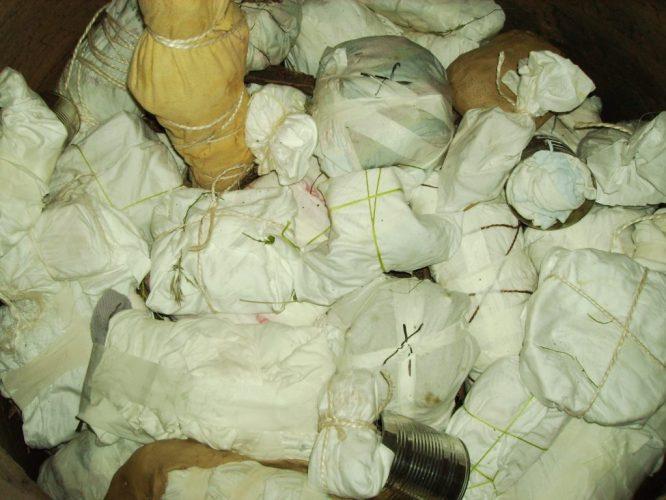 Einpacken mit Salztüchern